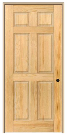 Shown Is A 6 Panel Pine Interior Door Found On DoorBuy.com