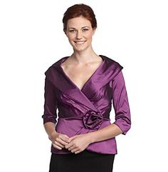 Black Taffeta Wrap Blouse 77