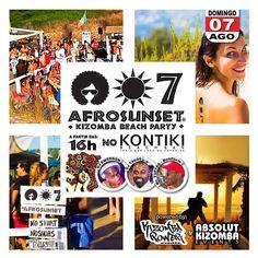 HOJE!! AFROSUNSET  Kizomba Beach Party  no KONTIKI - 16h. NO SHIRT - NO SHOES - JUST DANCE!  info em Facebook: Kizomba Power  ENTRADA LIVRE   #kontiki #kizomba #kizombapower #semba #zouk #tarraxinha #costa #afrosunset #djtavas #DjEmerson