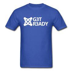G3T R3ADY - Standard Tee Men's Standard Weight T-Shirt Classic-cut standard weight t-shirt for men, 100% pre-shrunk cotton, Brand: Gildan $20.59