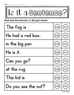 Do your students need practice with sentences? This pack helps young students with reading fluency and also develops an understanding of what makes a complete sentence. Made to save your ink and time. Only $1.00.