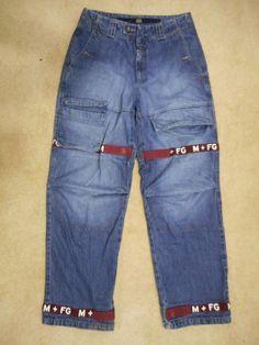 Le Jean de Marithe Francois Girbaud Men's Jeans Size 32M Hip Hop Shuttle Tape #LeJeandeMaritheFrancoisGirbaud #BaggyLoose