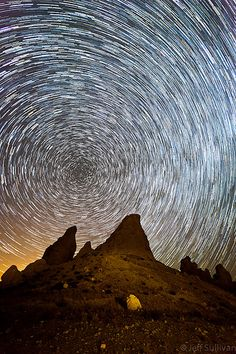 Star trails.