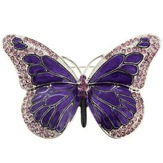 Shop Purple Enamel Crystal Butterfly Pin Brooch - Discover the best Brooches & Pins in Best Prices and Enjoy Fast Shipping. Insect Jewelry, Jewelry Art, Antique Jewelry, Jewelry Design, Fashion Jewelry, Jewelry Accessories, Fine Jewelry, Designer Jewellery, Glass Jewelry