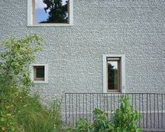 Darlington Meier Architekten AG - Uster Stucco Exterior, Interior And Exterior, Concrete Facade, Window Detail, House Doors, Facade Architecture, Wood Texture, Cladding, Windows And Doors