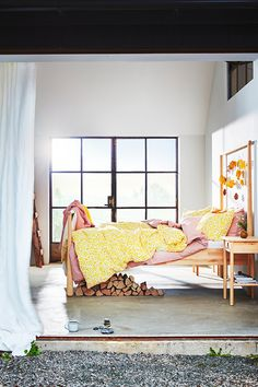 New bedroom buys for spring - IKEA Blue Bedroom, Home Decor Bedroom, Living Room Decor, Living Spaces, Ikea France, Best Home Interior Design, New Beds, Quilt Cover, Home Decor Styles