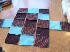 Free Rag Bag Purse Instructions   We will only use straight stitching on the whole project. Stitch an x ...