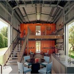 Container House...my uncle actually built one of these, it is beautiful!