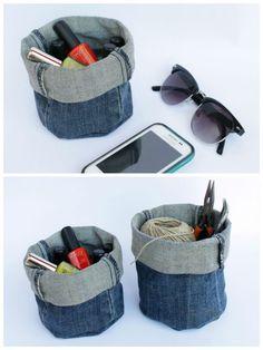 DIY: Upcycled Denim Bucket
