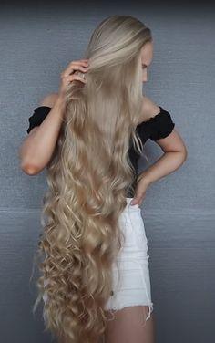 Big Curls For Long Hair, Beautiful Long Hair, Hair Pictures, Rapunzel, Blonde Hair, Hair Beauty, Long Hair Styles, Celebrities, Women