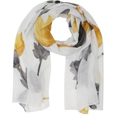 M&Co Sequin Flower Print Scarf (985 INR) ❤ liked on Polyvore featuring accessories, scarves, print, floral shawl, floral scarves, floral print scarves, print scarves and patterned scarves