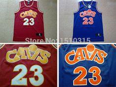 LeBron James #23 Cleveland Cavaliers Retro CAVS Road Blue Hardwood
