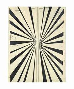 MARK GROTJAHN (B. 1968) UNTITLED (BLACK AND CREAM BUTTERFLY)