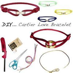 How to make wish bracelets ...: DIY: Cartier Love;Love Cord Inspired Bracelet