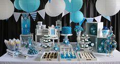 Blue birthday party