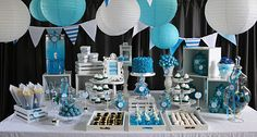 Blue birthday party