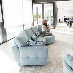 Valentina contemporary sofa by Fama, Spain. Contemporary Sofa, Recliner, Summer Fun, Light Colors, Den, Bean Bag Chair, Sofas, Spain, Lounge