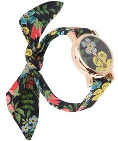 liberty fabric tie watch