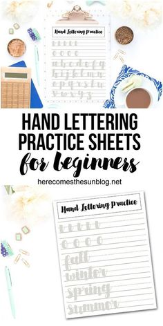 Lettering Practice Sheets for Beginners Use these hand lettering practice sheets for beginners to get started on your hand lettering journey.Use these hand lettering practice sheets for beginners to get started on your hand lettering journey. Hand Lettering For Beginners, Calligraphy For Beginners, Hand Lettering Styles, Hand Lettering Alphabet, Hand Lettering Tutorial, Hand Lettering Quotes, Creative Lettering, Typography, Calligraphy Alphabet