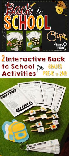 $ 2 Interactive Back to School themed activities, able to target pronouns, vocabulary, grammar, behavior expectations, or just for fun!