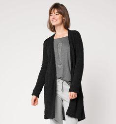25,00€; Lange Strickjacke in schwarz