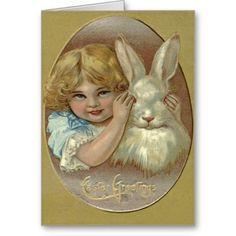 Easter Bunny Victorian Girl