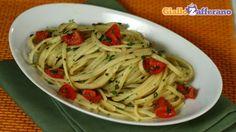 Linguine con erbe miste,pomodorini e olio piccante