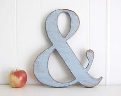 Ampersand sign custom wood wedding engagement decoration Shabby Chic photo prop