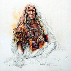 Inde 17 (Peinture) par Sonia Privat Disponible en format A5 (15cm X 15 cm): 3 €  Disponible en format A4 (21 cm X 30 cm): 8 € Disponible en format A3 (30 cm x 42 cm): 20 € Disponible en format A3 + (33 cm X 48 cm): 35 € (port compris)