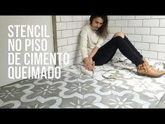 Stencil no concreto: pintura em cimento queimado - Moda Custom