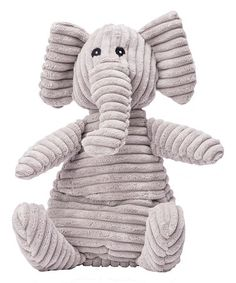 This Gray Corduroy Warming Elephant is perfect! #zulilyfinds