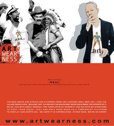 design Real Men... check us: Artwearness.