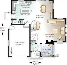 Détail du plan de Maison unifamiliale W2676