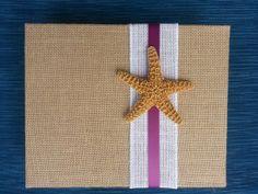 Starfish Beach Guest Book  - Wedding  - Starfish - Hawaii - Sign - Beach - Burlap - Guestbook