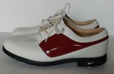 Women's Nike Golf Shoes 9 Air Comfort Verdana Last Oxford Style White Red Size 9 | Sporting Goods, Golf, Golf Clothing, Shoes & Accs | eBay!