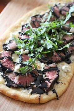 Grilled Steak & Gorgonzola Pizza with Balsamic Glaze Recipe