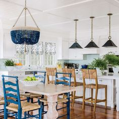 This kitchen reminds that don't have to make a big commitment to create a stunning blue kitchen.