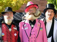 Hard to tell whether this is a beard contest or wacky suit competition.