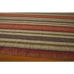 Shop for Danville Varigated Stripe Reversible Flat Weave Wool Dhurry Area Rug (8' x 10') and more for everyday discount prices at Overstock.com - Your Online Home Decor Store!