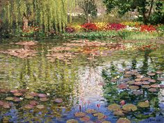 Monets Lily Pond In Giverny by Roelof Rossouw