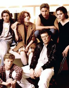 John Hughes with the cast of The Breakfast Club. Best director ever. Why couldn't he direct my life?