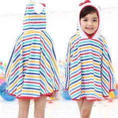 Super cute stripe hooded beach towel for this summer