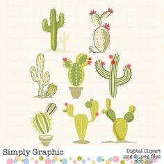 Cactus Plant, Cactus Print,Cactus Art, Instant Download, Digital Graphic, Digital Download, Green, Plant, Nature, Desert, Clipart c158