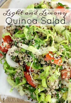 Light and Lemony Quinoa Salad ~ Fresh, clean, healthy, and crowd-pleasing!