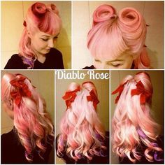 Lovely pink hair.
