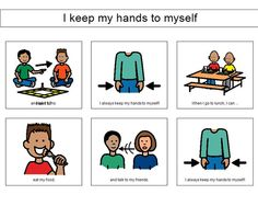 """I keep my hands to myself"" social story"