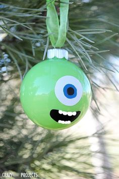 Dress your Christmas tree with a cute version of your favorite Monsters Inc. character—he's looking to spread holiday cheer instead of collecting screams! Get the tutorial at Crazy Little Projects