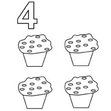 Planning To Teach Your Kid To Count Numbers? At that point Coloring The Numbers Is One Of The Best Way To Do It. Here Are 21 Fun Free Printable Number Coloring Pages Cupcake Coloring Pages, Coloring Book Pages, Printable Coloring Pages, Coloring Pages For Kids, Coloring Sheets, Colouring, Educational Activities For Preschoolers, Preschool Activities, Number Activities