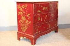 Century and Later Lacquered Chinoiserie Commode 4 Cool Furniture, Painted Furniture, Chinoiserie Chic, Asian Decor, Chest Of Drawers, 18th Century, Antiques, 1920s, Interior