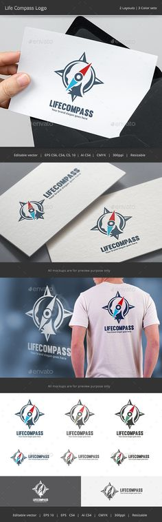 Life Compass Logo by WheelieMonkey Files format : EPS 10, EPS CS, EPS CS4, EPS CS6, AI CS4 Color mode : CMYK Resolution : 300PPI – Resizable Free used font links